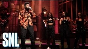 "Khalid Performs ""talk"" & ""better"" On Saturday Night Live"